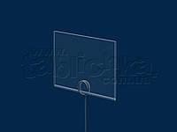 Ценник на иголке 60х40 мм, ПЭТ 0,7мм, фото 1