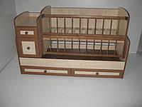 Детская кроватка трансформер  МДФ