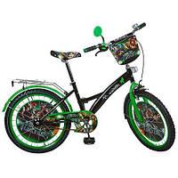 Велосипед детский Черепашки Нинзя TL203 20 дюймов цвет черно-зеленый