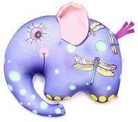 Антистрессовая подушка-игрушка Слоник Руби 18х23 голубой