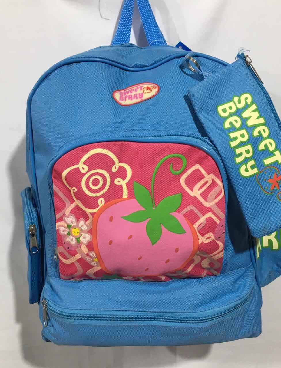 Рюкзак для девочки с сумочкой Клубничка (40х31)