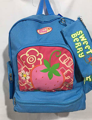 Рюкзак для девочки с сумочкой Клубничка (40х31), фото 2