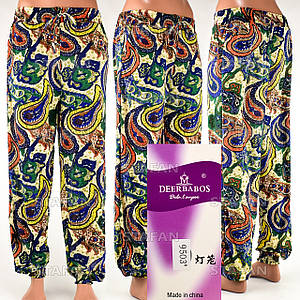 Женские лёгкие штаны Deerbabos 9503-14. Размер 56-60