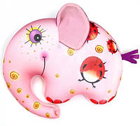 Антистрессовая подушка-игрушка Слоник Руби 18х23 розовый