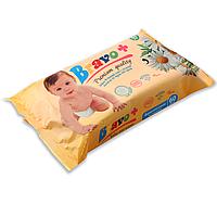 Детские влажные салфетки Bravo ромашка 60 шт