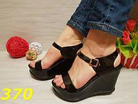 Босоножки женские черные силиконовые на платформе, балетки, женская летняя обувь