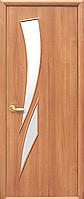 Двері міжкімнатні Новий Стиль, МОДЕРН, модель Камея екошпон, скло сатин і рис. Р3