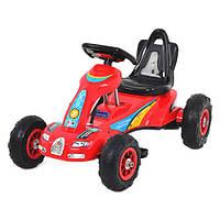 Детский педальный карт Bambi M 1559-3 веломобиль резиновые колеса цвет красный