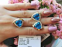 Комплект из серебра с золотыми накладками Эльба