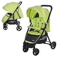 Детская прогулочная коляска Bambi Зеленая (M 3435-5 PREGO) с поворотными колесами