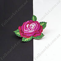 Стикер на одежду Роза розовая