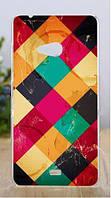 Силиконовый бампер чехол с рисунком для Microsoft Lumia 540