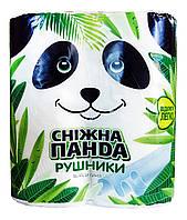 Полотенца бумажные Снежная Панда 2 слоя, 110 листов - 2 рулона.