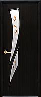 Двері міжкімнатні Новий Стиль, МОДЕРН, модель Камея Екошпон, зі склом сатин і малюнком Р1