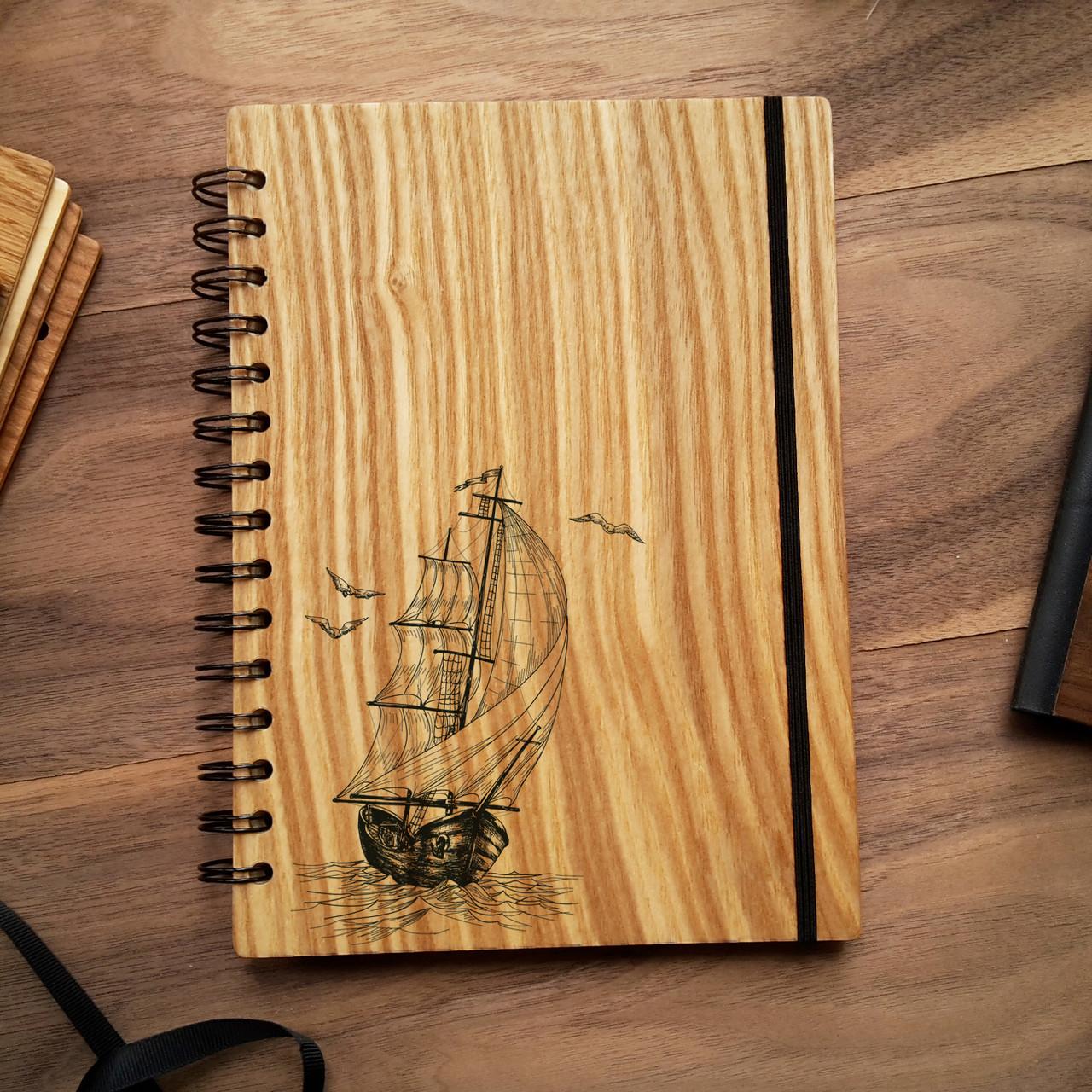 "Деревянный блокнот ""Фрегат"" А5 (бумага 148х210 мм), фото 1"