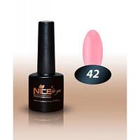 Гель-лак Nice for you № 42 розовый гламур 8,5 мл