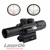Прицел Accurate M6 4х25 (с лазером, подсветкой и дальномером)