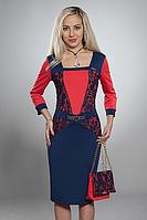 Праздничное платье из французского трикотажа с гипюровыми вставками