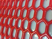 Красная пластиковая сетка решетка для тюнинга 100 X 45 см