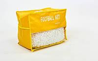 Сітка для футбольних воріт тренувальна вузлова (2шт) С-5004 (PP 2,5мм, яч.12x12см, PVC чохол)