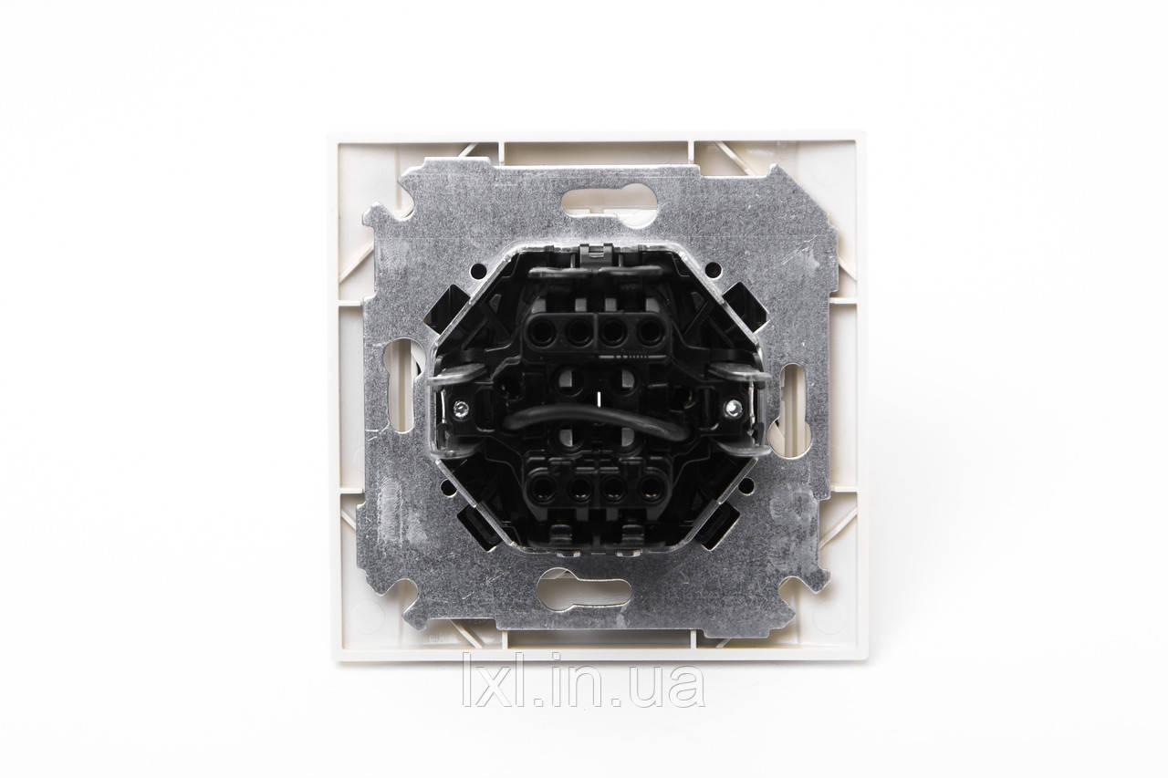 Выключатель проходной двойной Simon 34 кремовый