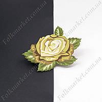 Термонаклейка на одежду Роза хаки