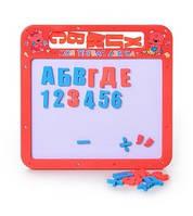 Досточка JT 0185 UK  магнитная азбука мал, 2 в 1, русский, украинский алфавит, 25-24см