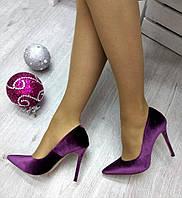 Туфли женские на шпильке сливовые