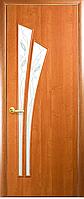 Двери межкомнатные Новый Стиль, МОДЕРН, модель Лилия ПВХ, со стеклом сатин и рисунком Р3