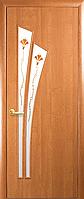 Двери межкомнатные Новый Стиль, МОДЕРН, модель Лилия ПВХ, со стеклом сатин и рисунком Р1