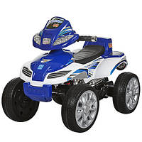 Детский квадроцикл M 0417 E-4 колеса EVA синий