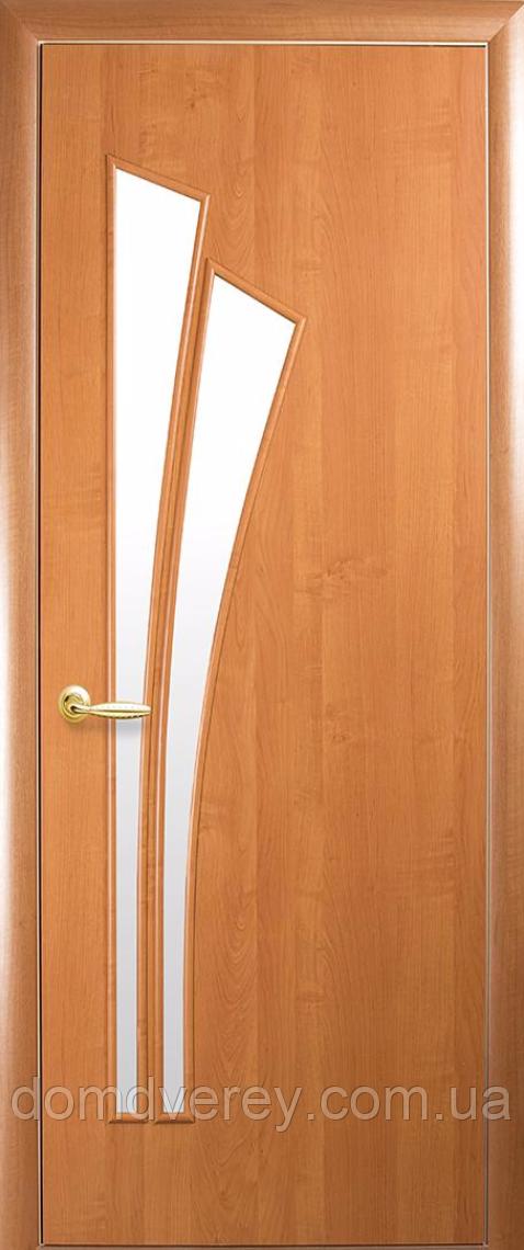Двері міжкімнатні Новий Стиль, МОДЕРН, модель Лілія ПВХ, зі склом сатин