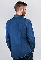 Рубашка джинсовая мужская, с длинным рукавом AG-0002786 (Синий)