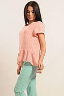 Женская розовая блуза Бейлиз ТМ Ри Мари 42-52 размеры