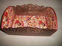 """Деревянная коричневая конфетница ручной работы  """"Сладости"""""""
