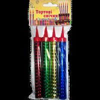 Свечи для торта (FS-4), разноцветные