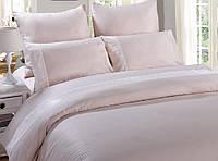 Евро комплект постельного белья B-0070 cream (сатин) Bella Villa