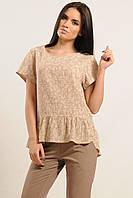 Женская бежевая блуза Бейлиз ТМ Ри Мари 42-52 размеры