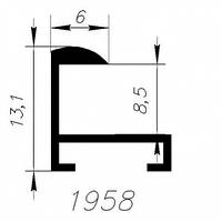 АЛЮМИНИЕВЫЙ ПРОФИЛЬ SARAY БЕЛЫЙ ПОЛИМЕРНОЕ ПОКРЫТИЕ RAL 9016 L=6М (1958)