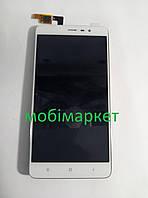 Модуль (сенсор + дисплей LCD) Xiaomi Redmi Note 3 з рамкою білий