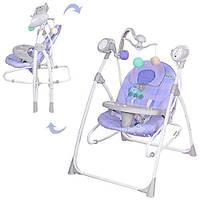 Качеля детская 2в1 Bambi M 1540-04-2 цвет фиолетовый
