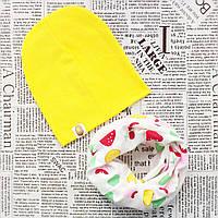 Набор: детская шапка и шарф - кольцо Желтый