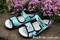 Босоножки тапочки в садик на мальчика, польская текстильная обувь тм 3F р. 25