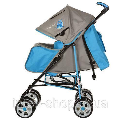 Детская коляска-трость BAMBI (M 2108-1) с глубокой крышей (Голубой)