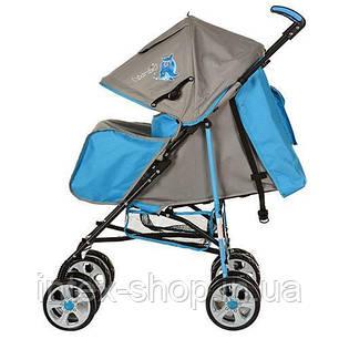 Детская коляска-трость BAMBI (M 2108-1) с глубокой крышей (Голубой), фото 2