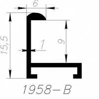 Алюминиевый профиль Saray черный полимерное покрытие L=6м (1958 B)