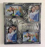 Мультирамка для фото Family Rose на стену (25)