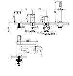 Врезной смеситель для ванны Devit Iven 43128141W, фото 2