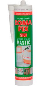 Герметик акриловый  (мастика) белый 310 мл SOMA FIX