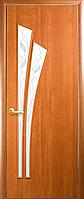Двери межкомнатные Новый Стиль, МОДЕРН, модель Лилия Финиш бумага, со стеклом сатин и рисунком Р3